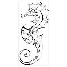 Inkblot Seahorse Wall Art Poster