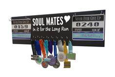 Running Medal Holder and Race Bib Hanger for couples SOUL