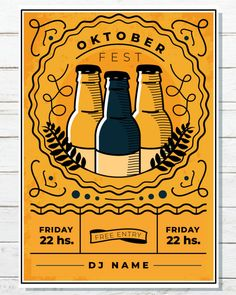 Check out this cool hipster style poster design, perfect for an Oktoberfest Party or Artisan Beer Fe Jazz Poster, Neon Poster, Hipster Poster, Rock Poster, Party Poster, Oktoberfest Party, Oktoberfest Outfit, Oktoberfest Hairstyle, Hipster Design