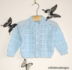 HANDMADE Baby sweaters Blue by Littlefairydesigns on Etsy