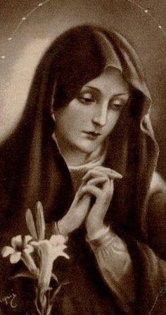 Prudente, casta y obediente, humilde esclava del Señor.