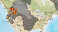 Wildfire Smoke Becomes The Health Threat That Won't Go Away - A screenshot of fire conditions on AirNow.gov, with orange icons showing fires and gray representing smoke. Evidence Based Medicine, Indoor Recess, Crop Production, Wild Fire, Environmental Health, Going Away, Air Pollution, Sustainable Design, Global Warming