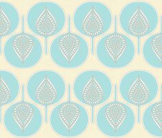 tree_hearts_cream_and_marine fabric by holli_zollinger on Spoonflower - custom fabric
