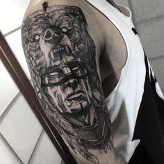 Xamã. muito obrigado Mike #electricink @inkonik_tattoo_studio