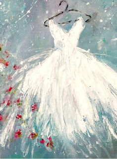 Tutu Painting Shabby Chic Original Acrylic by SophiesPorch on Etsy