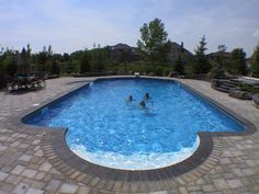 The Patrician Pool combined the Rectangle and Roman for a perfect shape! Get started with your dream backyard today at Oasis Leisure Centre, located at 1000 St. Anne's Rd, Winnipeg! Leisure Pools, Outside Pool, Vinyl Pool, Pool Shapes, In Ground Pools, Pool Decks, Staycation, Swimming Pools, Oasis