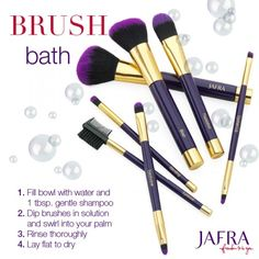 Keep your makeup brushes hygienic and in shape with a weekly cleaning! www.jafra.com/ldaniels