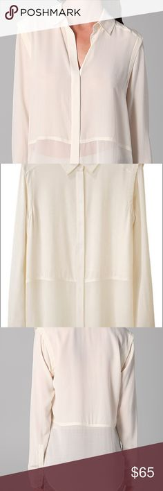 T by ALEXANDER WANG IVORY SILK & CHIFFON T by Alexander Wang beautiful blouse silk and chiffon size XS T by Alexander Wang Tops Blouses