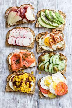 Savory Toast 8 Ways