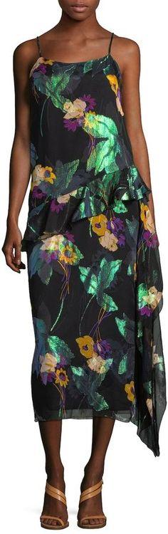 Anna Sui Women's Blithe Spirit Metallic Shift Dress