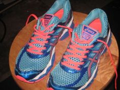 Women's ASICS GEL-Cumulus 15 Running Shoes Turquoise/Melon size 8.5