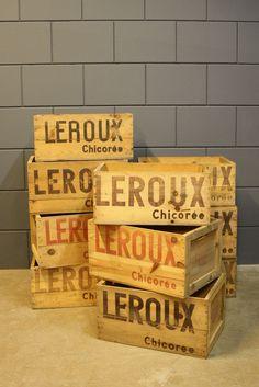 Industrial vintage box Leroux