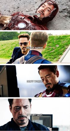 PLEASE let Tony Stark be happy for once.