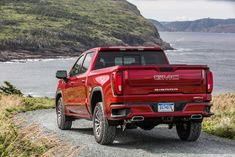 new off-road performance package for the 2019 GMC Sierra amps the truck's with a performance air intake and upgraded cat-back exhaust system, boosting output to 435 horsepower and 469 pound-feet of torque from 420 hp and 460 pound-feet. Chevrolet Suburban, Chevrolet Silverado 1500, Chevy 4x4, Chevy Pickups, Gmc Sierra Denali, Chevrolet Captiva, Gmc Pickup Trucks, New Trucks, Harley Davidson