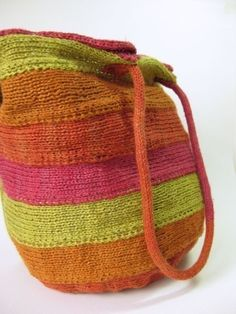 Spiral Bag Knitting Pattern, Knitted Bag, Knitting Pattern PDF