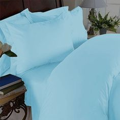 "Elegant Comfort ® Wrinkle Resistant - 1200 Thread Count Silky Soft Luxurious 4-Piece Sheet Set, Deep Pockets Fits Up to 16"" - Queen, Aqua SandersCollection 25.00 http://www.amazon.com/dp/B00AZVMAH0/ref=cm_sw_r_pi_dp_cyYwub1CV5659"