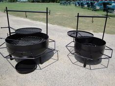 "Our Fire Pits come in two sizes ""Texas"" and ""Junior"""