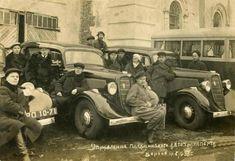 ГАЗ М-1 Воронежского Управления пассажирского автотранспорта. Фотография марта 1938 года.