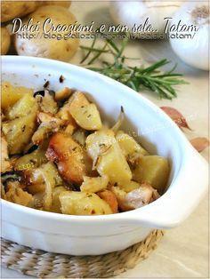 Pollo con patate e cipolle al forno   ricetta piatto unico
