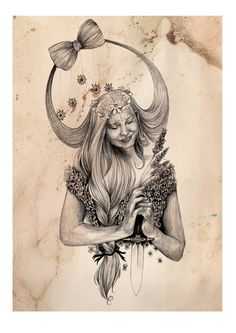 Virgo A4 Fine Art Print on Hahnemuhle Smooth by DBIllustrations, £15.00