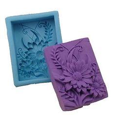 herramientas de decoración de fondant pastel de chocolate de silicona pastel de molde en forma de girasol, l9.2cm * w6.8cm * h3cm – USD $ 12.99