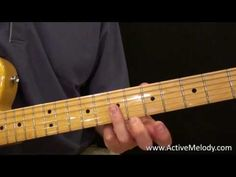 Visit http://www.activemelody.com for the tablature and MP3 jam track for this video.  Every few days I'm adding a new guitar lesson video so be sure to check back!   This video demonstrates a fairly simple and somewhat standard blues guitar lick that can be played on either an acoustic or electric guitar.      This is really intended for the be...