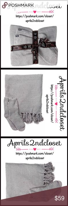 MARSHMALLOW WRAP & COZY SOCKS TRAVEL SET NEW WITH TAGS RETAIL PRICE: $70  Marshmallow Wrap & Socks Set  * Knit Construction  * Blanket wrap w/fringe trim  * Super soft & cozy  * Slipper socks- stretch to fit, one size fit most  * Wrapped w/a bow for gift giving   * Machine wash cold   Material: polyester Color:Gray Item#:   No Trades ✅ Offers Considered*✅ *Please use the blue 'offer' button to submit an offer. Aegean Accessories Scarves & Wraps