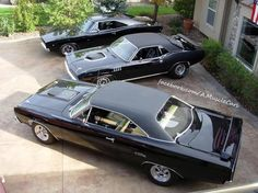 BACK IN BLACK! Charger, Cuda & GTX