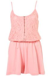 Baby Pink Lace Playsuit