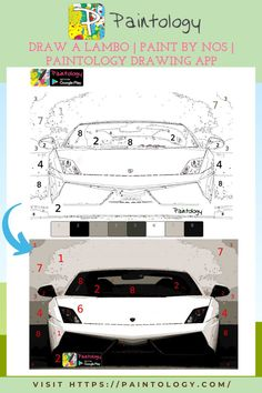 The design of the lamborghini (lambo) car has a very eye-catching design that turns heads whenever you see it. Due to the iconic nature of this car, let's draw this lambo for our own pleasure. Once you have completed the drawing, why not post directly to the Community page in the app. Users post artworks that they have done on their phone or pictures of their artwork.The Paintology community enables you to share with other like minded users and get great feedback on you artworks. #paintbynumbers