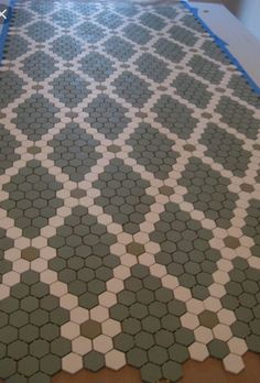 Wild About Hexagon Tile   For the Home   Pinterest   Moroccan  Bald     Hexagon Floor Tile Patterns   Mosaic Hexagonal Tiles Laid In Diamond Pattern