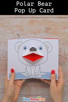 Christmas Crafts For Kids To Make, Animal Crafts For Kids, Diy Christmas Cards, Art For Kids, Paper Crafts For Kids, Preschool Crafts, Fun Crafts, Diy Snowflake Decorations, Karten Diy