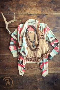 The El Rey - spring southwest cardi from Savannah Sevens Western Chic