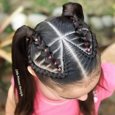 New Baby Girl Hairstyles Toddlers Black 61 Ideas Lil Girl Hairstyles, Two Braid Hairstyles, Baddie Hairstyles, Toddler Hairstyles, Girl Hair Dos, Natural Hair Styles, Long Hair Styles, Beautiful Braids, Hair Beauty