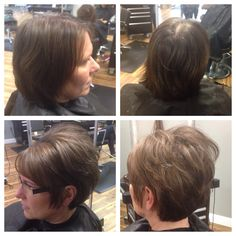 Short hair. Before and after. #lindseyfrosthair