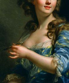 Self-Portrait - Marie-Gabrielle Capet. Detail.