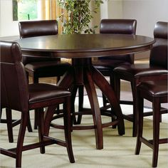 counter height table in cappuccino 42 round pub table expands to