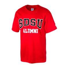 333c21a9 SDSU Alumni Tee Crew neck tee with ribbed neck collar featuring SDSU Alumni screen  printed across