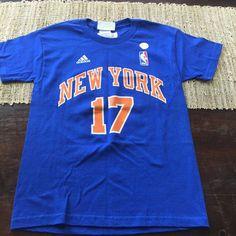 dd0b22510 Youth Adidas New York Knicks Jeremy Lin Blue T Shirt NWT NBA Sz Medium   adidas  NewYorkKnicks