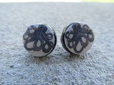 Inky Octopus Post Earrings, so cute! Don't know why I'm currently obsessed with octopi