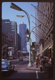 North from Washington - Chicago, Illinois Jun. 1963 Photo by Charles Cushman Chicago Loop, Chicago Area, Chicago Illinois, Chicago City, Milwaukee City, Washington Street, Photo Images, Chicago Photos, State Street