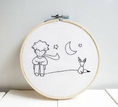 Little prince wall decor embroidery hoop art nursery wall | Etsy