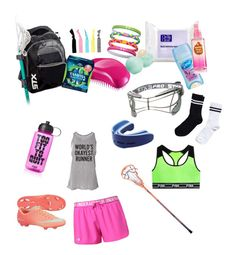 """Lacrosse Bag Essentials"" pinterest: @zozopuffpuff"