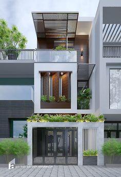 Mặt tiền hiện đại độc đáo cho nhà phố | Archinect.vn