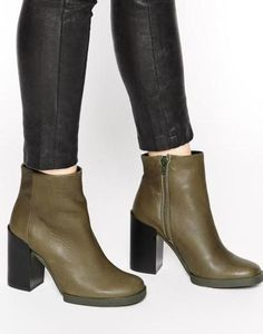 826cffdfedf2 miista skye leather heeled ankle boots green  leather  boots  heeledboots   ankleboots