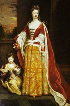 """""""Jemima, Duchess of Kent, and Her Daughter Lady Jemima Grey"""" by Godfrey Kneller (1705)"""