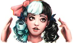 I did this portrait of Melanie Martinez. She is a fantastic musician. If you haven't heard her, check her out here. www.youtube.com/user/Melmartin…