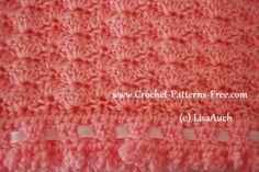 shell stitch free crochet baby blanket pattern