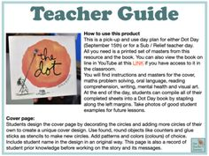The Dot Lesson Plans for reading, writing, maths, art and Reading Lessons, Writing Lessons, Math Lessons, Day Book, Book Week, School Resources, Teaching Resources, Relief Teacher, Math Problem Solving