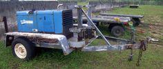 Miller Trailblazer pro 350 cc/cv-ac/dc trailer mounted arc welder with 12,000 watt generator hrs:0062.8, a/c power recep